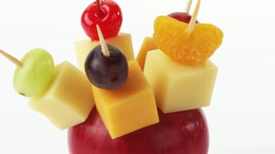 stock-footage-cheese-fruit-and-olives-on-cocktail-sticks