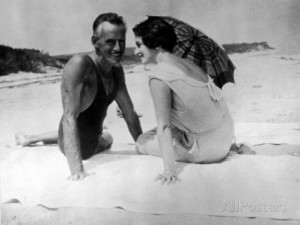 playwright-eugene-o-neill-and-his-wife-carlotta-monterey-in-swimsuits-at-the-beach