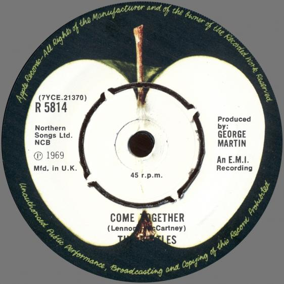 1978 UK The Beatles The Singles Collection 1962-1970 - R 5814 - Something ⁄ Come Together -5